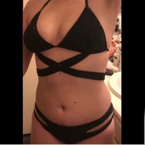Swim - BNWT- Sexy Black Bandage Style 2 Piece Swimsuit